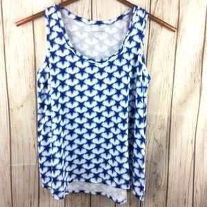 Woman Within Tank Top Star Pattern